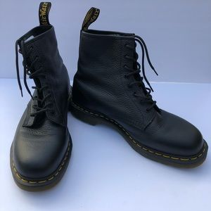 NEW Dr. Martens 8 Eyelet Combat Boot Soft Leather